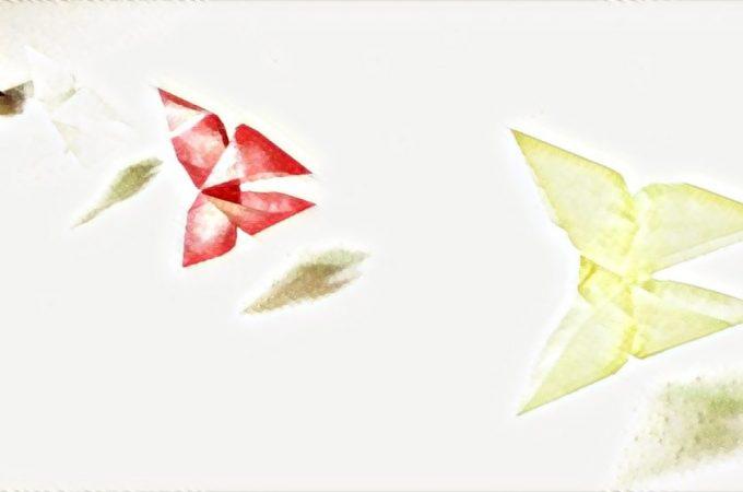 Hochzeitsdekoration Origami
